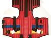 Kamizelka unieruchamiająca typu KED czerwona