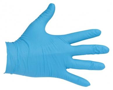 Rękawiczki nitrylowe z przedłużonym mankietem – niebieskie (szt)
