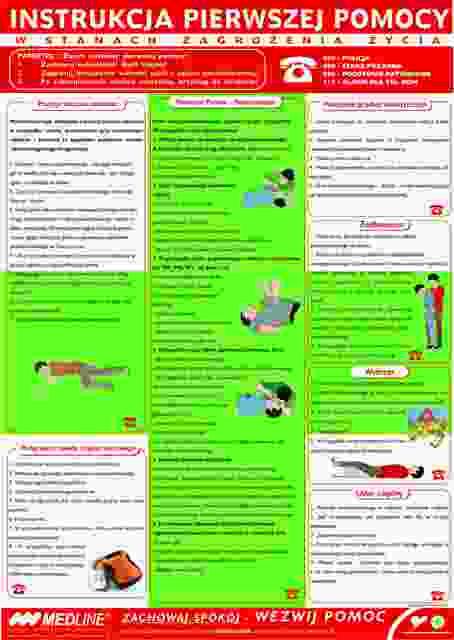 Instrukcja pierwszej pomocy w obrażeniach ciała i zatruciach A4