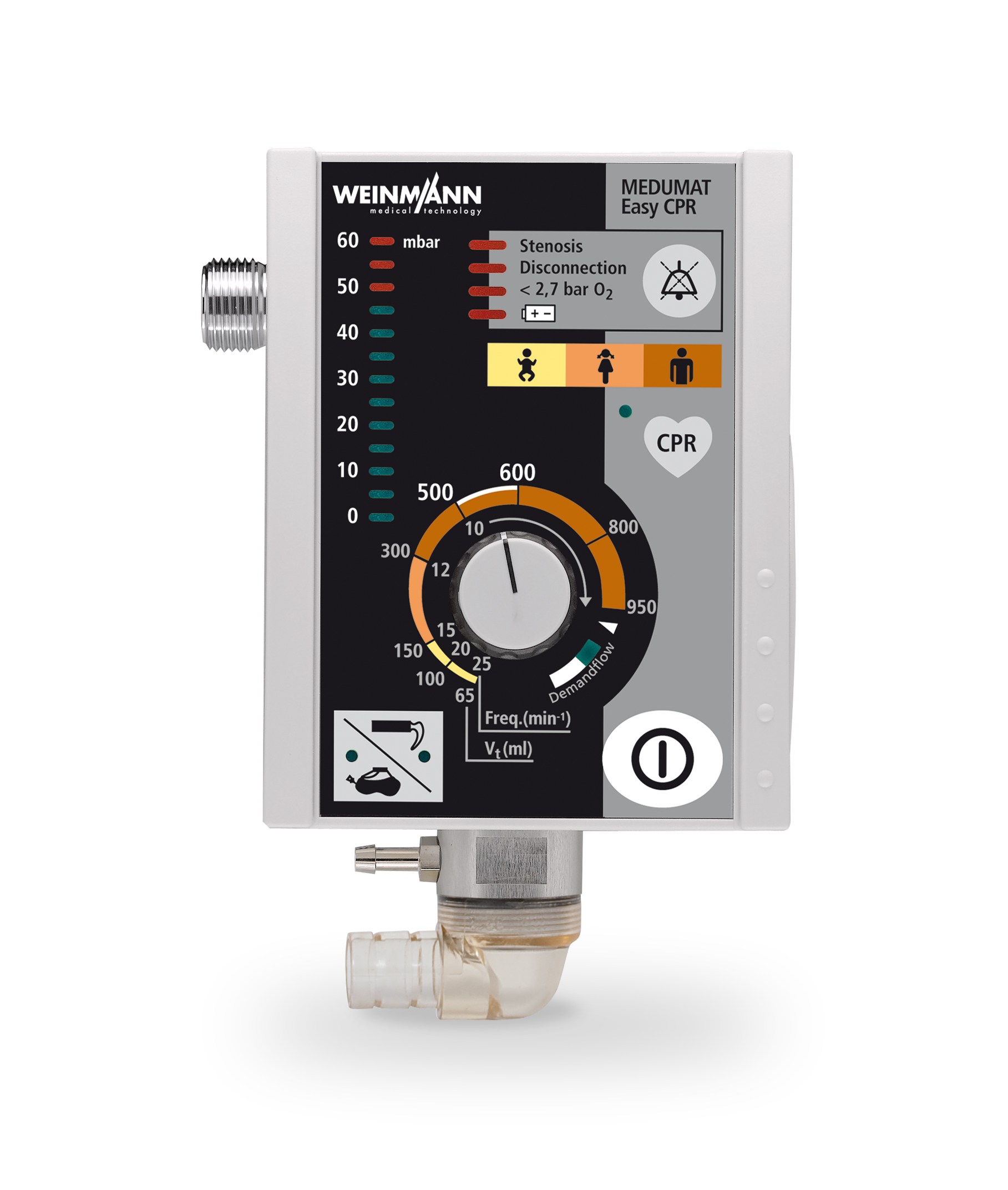 Defibrylator Meducore Standard Pro + Respirator Medumat Easy CPR na Life-Base 1 NG XL