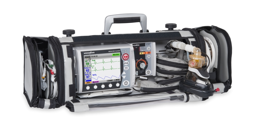 Defibrylator Meducore Standard Advanced + Respirator Medumat Easy CPR na Life-Base 1 NG XL
