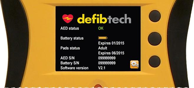 Defibrylator AED Lifeline VIEW z kolorowym wyświetlaczem LCD