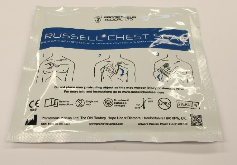 RCS opatrunek na otwarte rany klatki piersiowej
