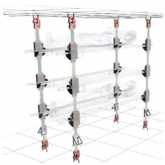 System mocowania noszy w pojeździe – NT 620