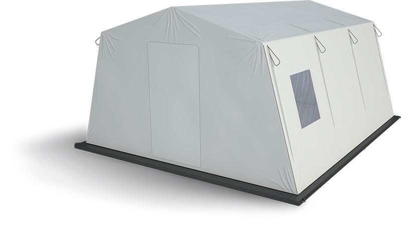 Namiot ratowniczy z pneumatyczną podstawą